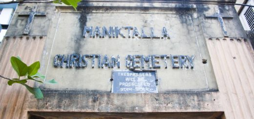 Maniktalla Christian Cemetery in Kolkata (Calcutta), India