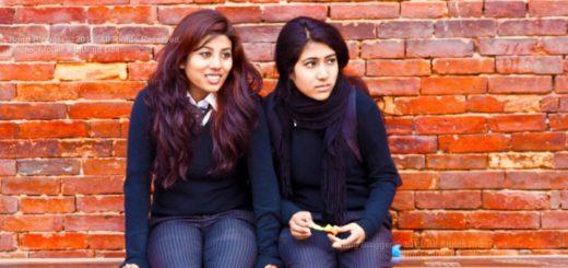 Students of Kathmandu before Earthquake - Kathmandu, Nepal