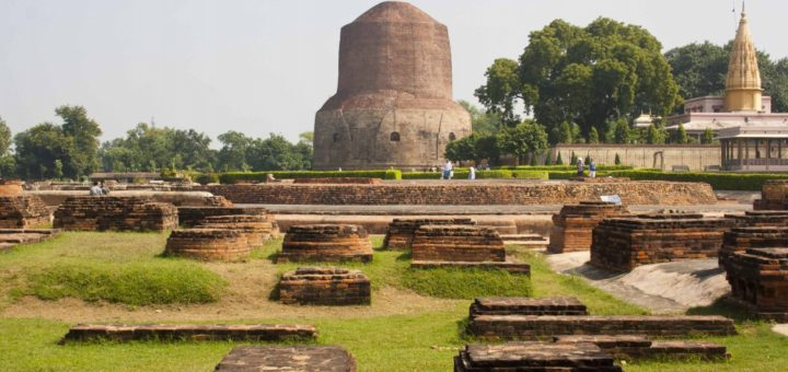 Dhamekh Stupa in Sarnath - Uttar Pradesh, India