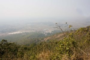View of Villages from top of Susunia Hill , in Bankura India