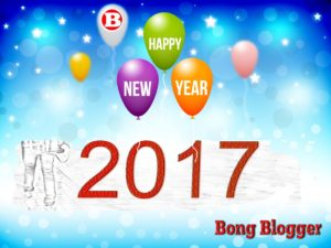 Happy New Year 2017 Greetings from BongBlogger