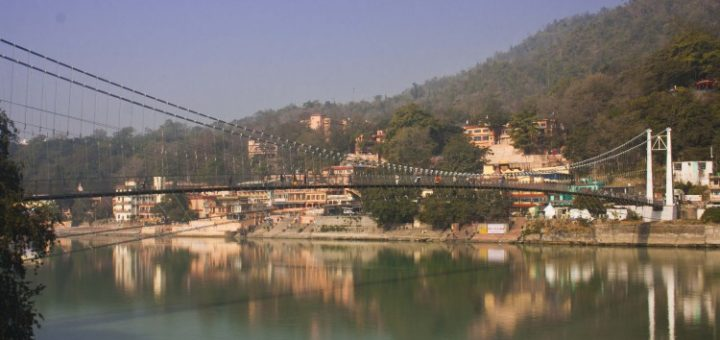 Lakshman Jhula Bridge in Rishikesh, Uttarakhand, India
