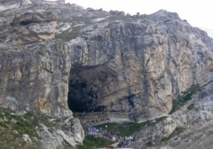 Amarnath Holy Cave in Amarnath, Jammu and Kashmir, India