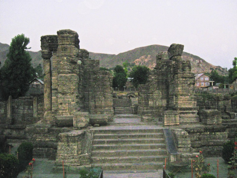 Awantiswami Temple in Awantipura, Jammu and Kashmir, India