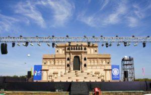 Jal Mahotsav - Stage for Cultural Program in Hanuwantiya, Khandwa, Madhyapradesh, India.