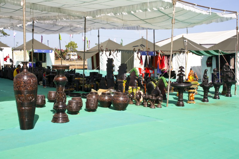 Jal Mahotsav - Craft Market in Hanuwantiya, Khandwa, Madhyapradesh, India.