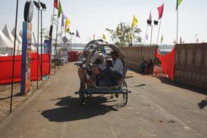 Jal Mahotsav - Bullock Cart Ride in Hanuwantiya, Khandwa, Madhyapradesh, India.