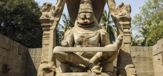 Ugra Narasimha or Laxmi Narasimha statue in Hampi